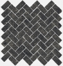 Room stone black Mosaico Cross 31.5x29.7 cmx10 cm