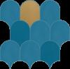 Лайфстайл Блу Мозаика луп 32x31 cmx8.5 cm
