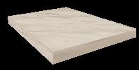 Портофино Белый Ступень 45 Угловая Правая Шлиф. 33x45 cm