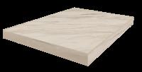 Портофино Белый Ступень 45  Угловая Левая Шлиф. 33x45 cm
