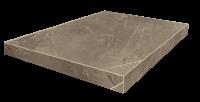 Портофино Серый Ступень 45 Угловая Левая Шлиф. 33x45 cm