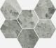 Charme Extra Silver Mosaico Hexagon 25x29 cm