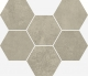 Terraviva Greige Mosaico Hexagon 25x29 cm