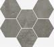 Terraviva Dark Mosaico Hexagon 25x29 cm