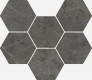 Charme Evo Antracite Mosaico Hexagon 25X29