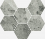 Шарм Экстра Силвер Мозаика Гексагон 25x29 cm