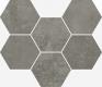 Терравива Дарк Мозаика Гексагон 25x29 cm